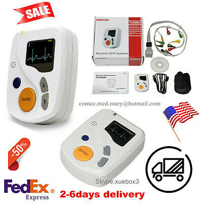 New 12 Channel Ekgecg Holter System Recorder Monitor Analyzer Tlc6000 Free Bag