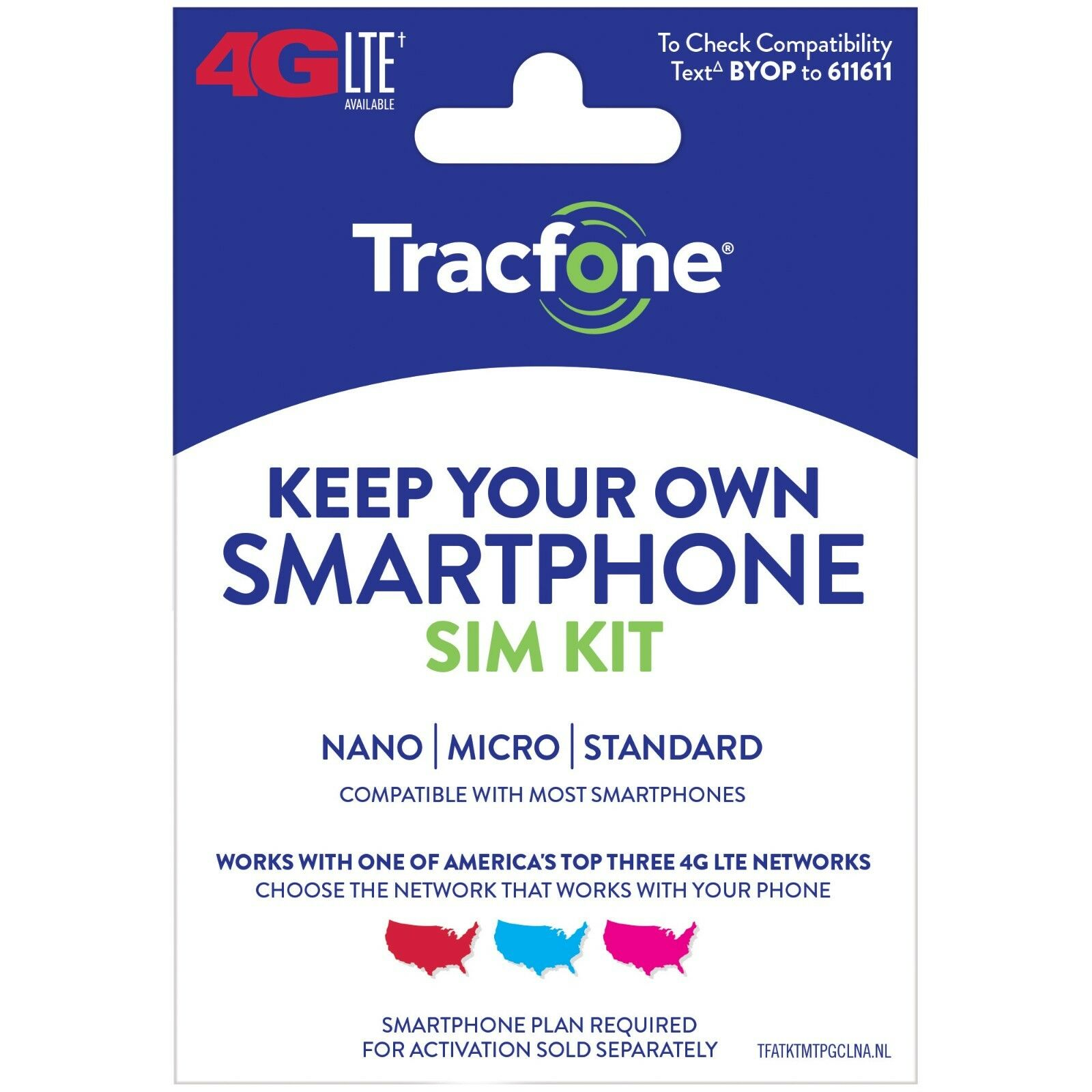Купить TracFone - Tracfone Keep Your Own Phone 3-in-1 Prepaid SIM Card Kit - Mini Pack