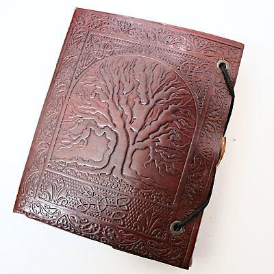 Lederbuch Kladde Notizbuch Tagebuch Motiv Celtic Tree Yggdrasil  1  Indien