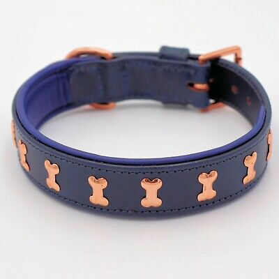Leather Dog Collar Handcrafted Adjustable Size X-Large 16