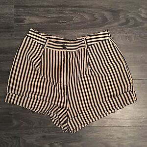 women's striped shorts