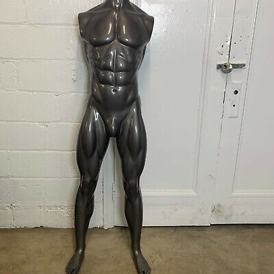 Male Full Body Mannequin Tall Grey Athletic Body