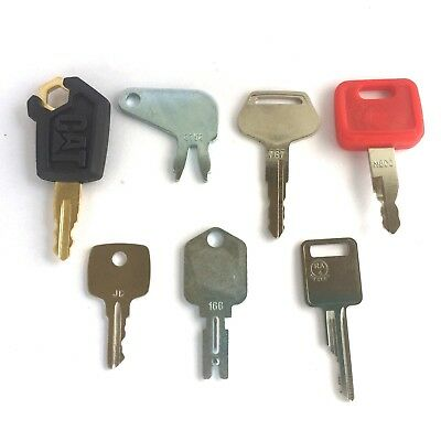 7 Keys Heavy Equipment - Construction Equipment Ignition Key Set - Ships Free