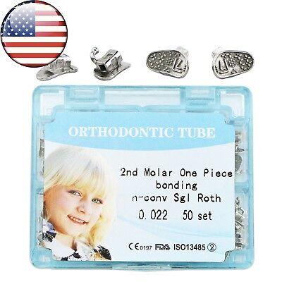Usa 200pcs Dental Orthodontic Monoblock Bonding Buccal Tubes Roth 022 2nd Molar