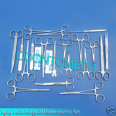 50 Pcs. Spay Pack Kit Surgical Veterinary Instrument