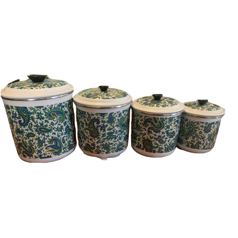 Enamel French Paisley Canisters By Fancipan