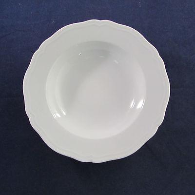 SET OF SIX - Richard Ginori ANTICO DOCCIA WHITE Rim Soup Bowls