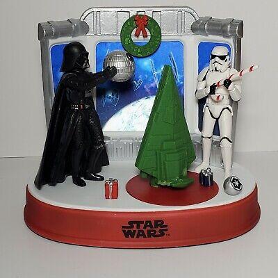 Disney Star Wars Christmas Table Top Decor Animated Musical Lights Vader