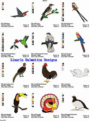 BEAUTIFUL BIRDS V. 3(4x4) LD MACHINE EMBROIDERY DESIGNS