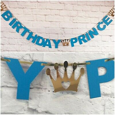 E BANNER SON Disney party decoration BOY BLUE 1st BUNTING (1. Birthday Boy Banner)
