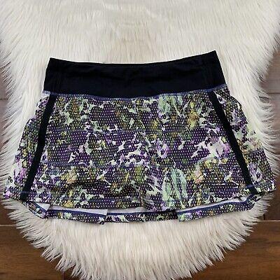 Lululemon Women's Size 4 Floral Sport Pace Rival Skirt II Skort