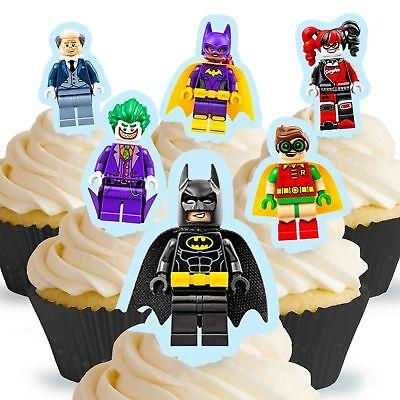 Cakeshop 12 x PRE-CUT Lego Batman Stand Up Edible Cake Toppers (Lego Batman Cake)