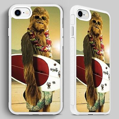 Chewbacca Star Wars Surfing QUALITY PHONE CASE COVER for iPHONE 4 5 6 7 8 X