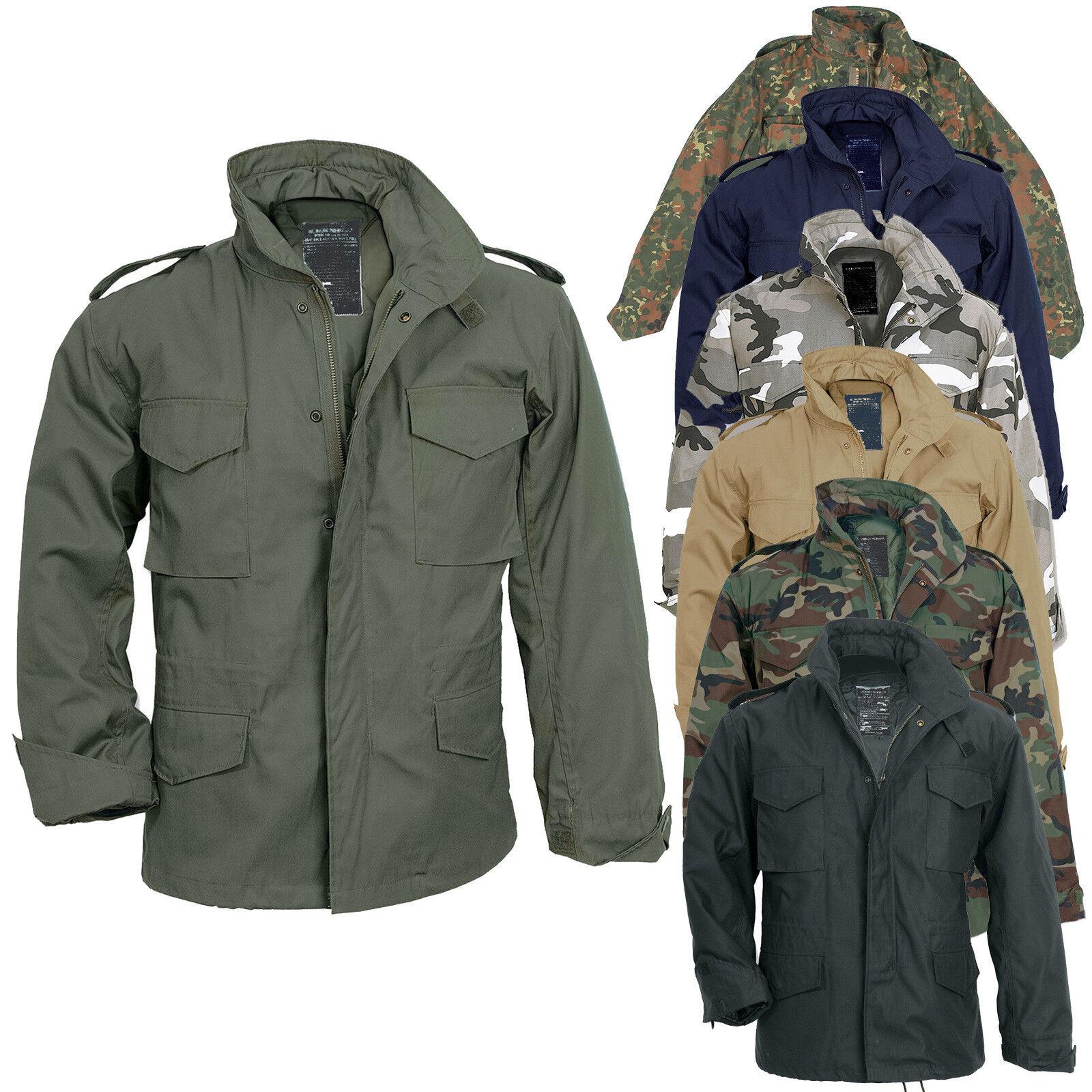 US Feldjacke M65 mit Futter S-7XL 7 Farben, Army Parka Fieldjacket Jacke tarn