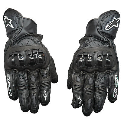 - Alpinestars GPX Leather Motorcycle Motorbike Race Suede Reinforced Gloves Black