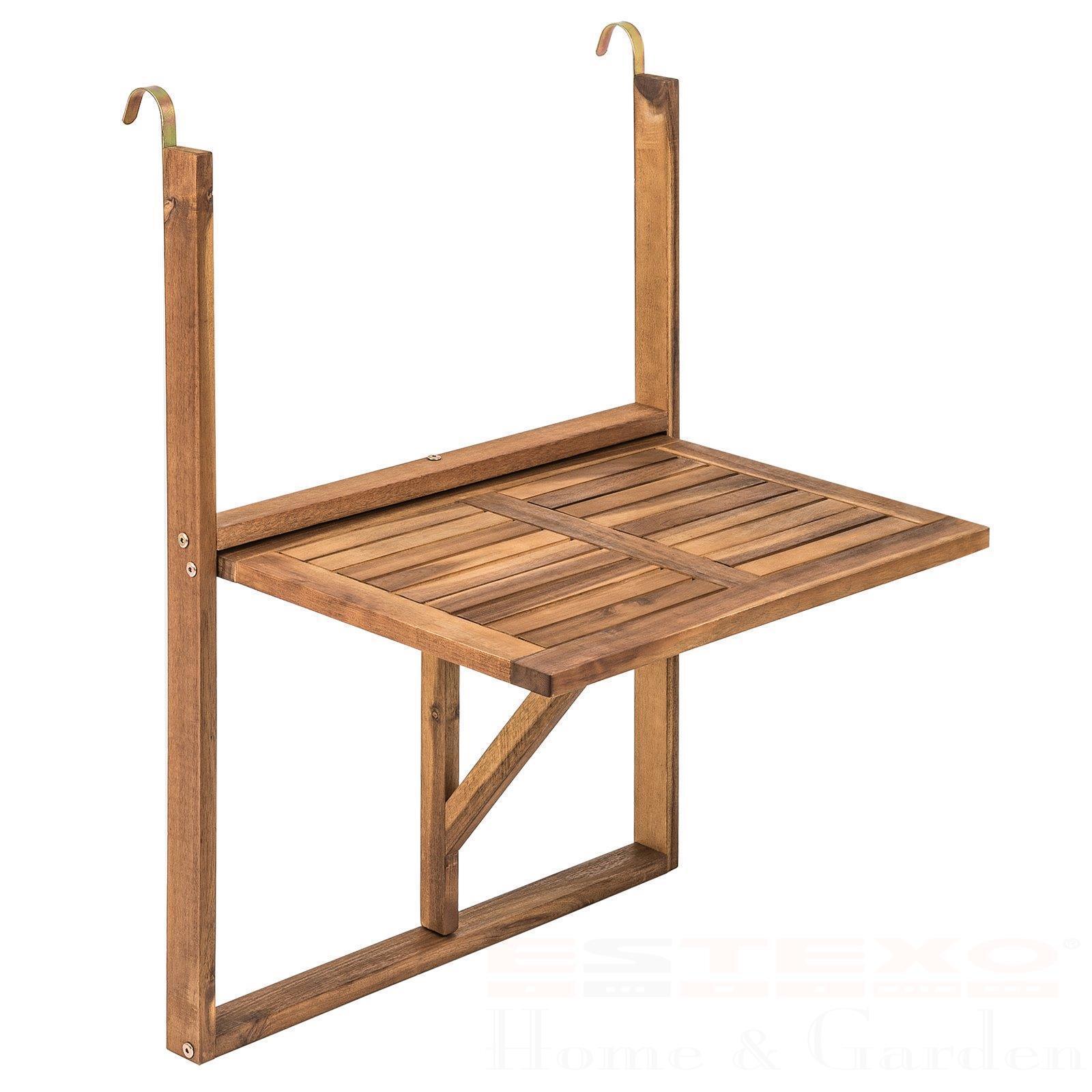 Balkonhängetisch Hängetisch Balkontisch Tisch 60x40cm klappbar Holz