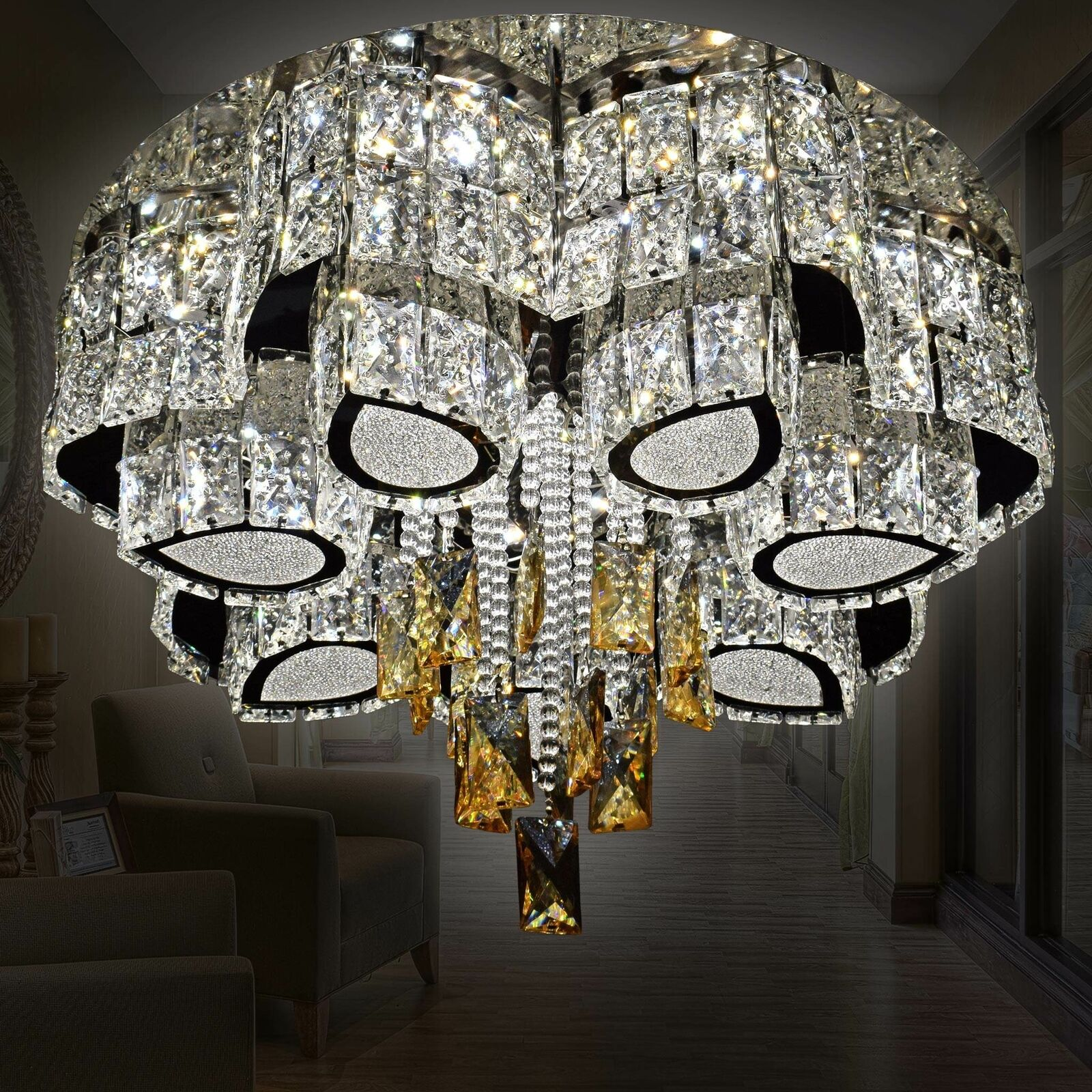 RGB LED Blumen Design Deckenlampe Wohnzimmer Farbwechsel Dielen