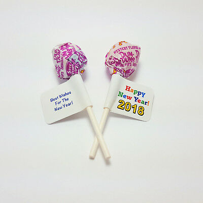 60 Personalized New Years Eve 2018 Party Lollipop Wrapper Favors Labels - Nye Party Favors