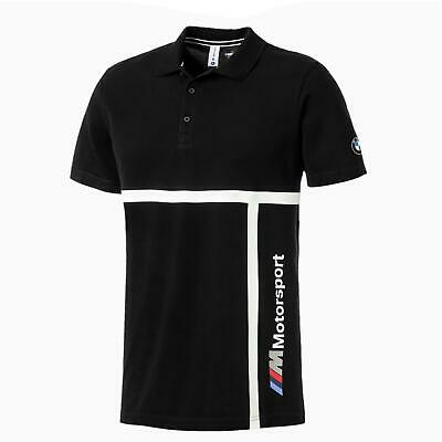 Puma BMW Motorsport Mens Polo Top Black T-Shirt 577790 01