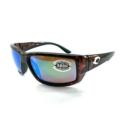 NEW Costa del Mar Fantail TF 10 OGMGLP Tortoise Frame / Green Mirror 580G (Costa Del Mar Fantail Sunglasses)