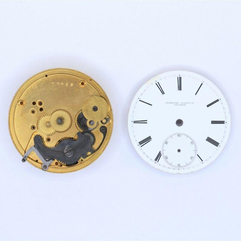 Rockford Pocket Watch 18 Size 11 Jewel Key Wind Movement - LA158
