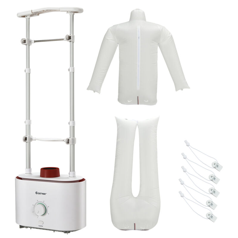 Costway Inflatable Drying & Ironing Machine 1050W Automatic Garment Steamer