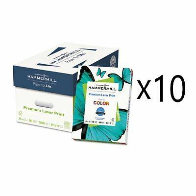 Premium Laser Print Paper 98 Bright 24lb 8.5 X 11 White 500ream 10 Reams