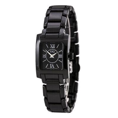 ESQ Movado Women's 7101386 Black Dial Black Ceramic Bracelet Swiss Watch