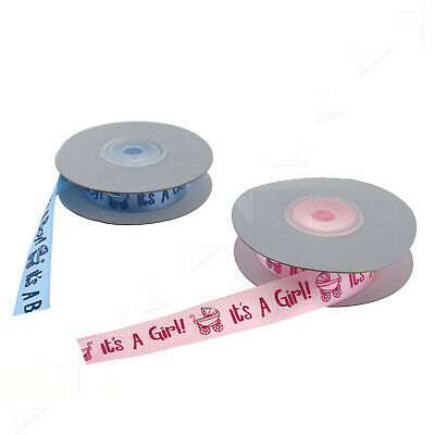 Schleifenband 1.5cm Baby It's a boy/girl Dekoband Tauf-Satin-Band DIY Satin Boys Band