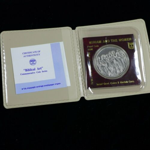 Israel 1996 Biblical Art Miriam and the Women Proof Silver Coin 2 NIS + COA