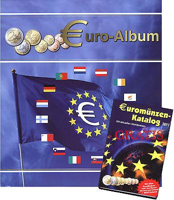 EURO-MÜNZALBUM + Gratis Marktpreiskatalog mit Estland Sammelalbum Münzen