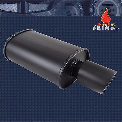 Spunlocked Exhaust Muffler Cap Double Wall Slant Tip Stainless Steel Black