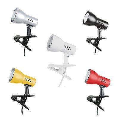 Spot-Light Klemmleuchte Clampspot E27 oder E14 diverse Farben Leselampe Leuchte