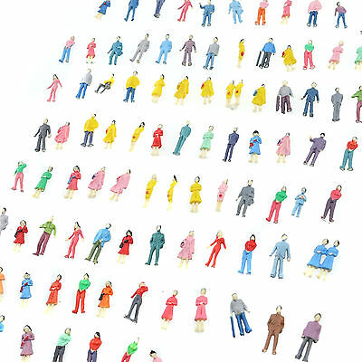 200 Pcs Building Layout Model People Train 1 87 Ho Scale Painted Figure Us Stock