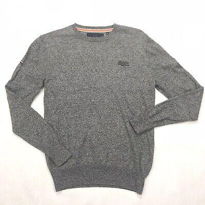 SUPERDRY Jumper Sweater CASHMERE & COTTON in Steel Twist Large