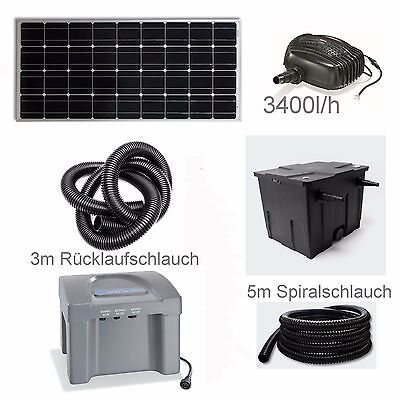 80 Solar Teichpumpe Akku Bachlauf Filter Pumpe Solarpumpe Gartenteich Batterie *