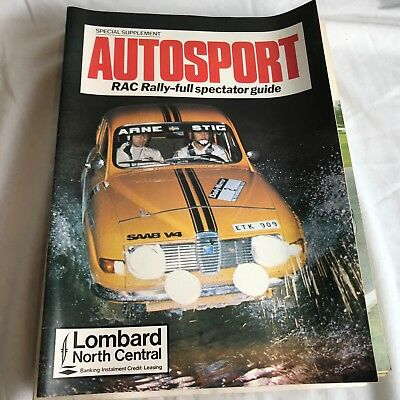 VINTAGE AUTOSPORT MAGAZINE MAG RAC FULLY RALLY SPECTATOR GUIDE