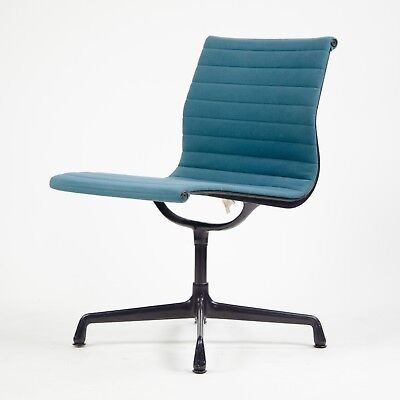 Used, 1985 Eames Herman Miller Aluminum Group Executive Desk Chair Blue Fabric  for sale  Hershey
