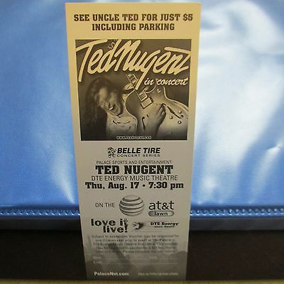 Ted Nugent 2006 Concert Handbill  8 17 06 Dte Energy Music Theatre