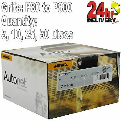 Mirka Autonet 150mm 6 Sanding Mesh Disc P80 To P800 Paintwork Dust Extraction