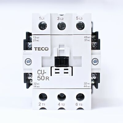 Teco Cu-50r Magnetic Contactor 80 Amp 3 Phase 110v Coil 3a2a2b Taian Cn-50