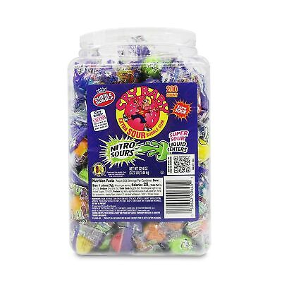 Cry baby Nitro Sours Extra Sour Bubblegum Candy, 3.27 LB Tub - 200 Count Indi...