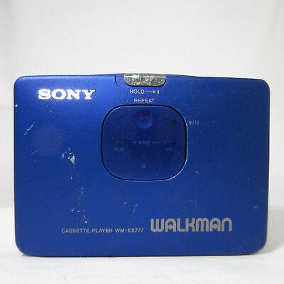SONY WALKMAN CASSETTE PLAYER WM-EX777 BLUE VINTAGE RARE NOT WORKING 180508