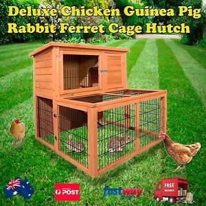 Deluxe Guinea Pig Ferret Chicken Rabbit Cage Hutch Melbourne CBD Melbourne City Preview