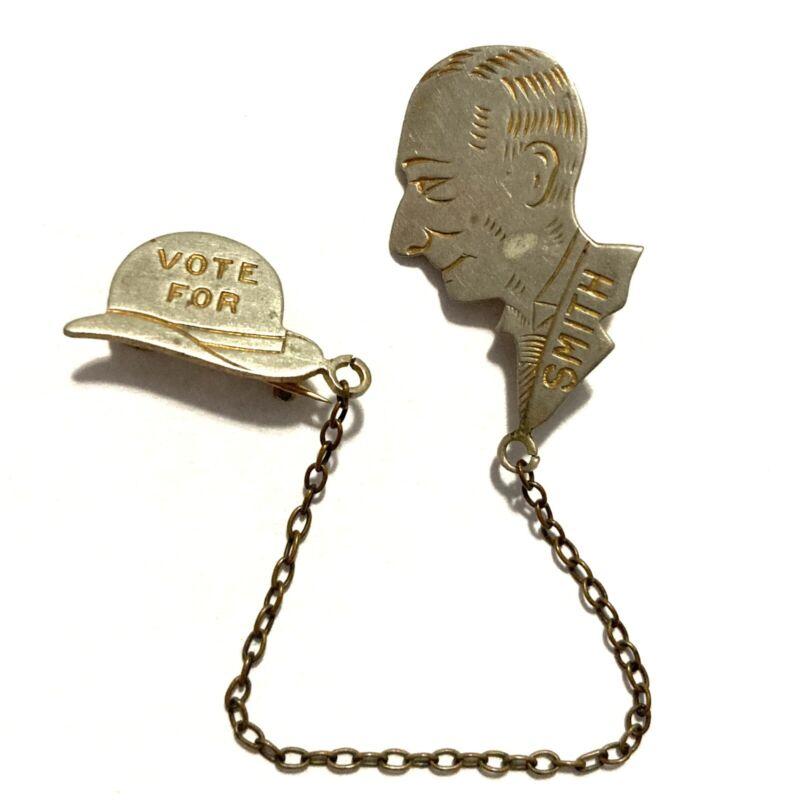 Antique Vote For Al Smith 1928 Political Campaign Lapel Pin