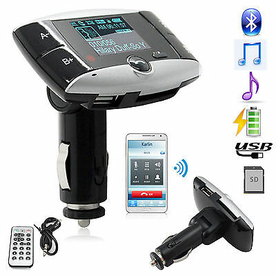 Wireless Bluetooth FM Transmitter W/Display&Remote for Samsung Galaxy S8+S7 edge