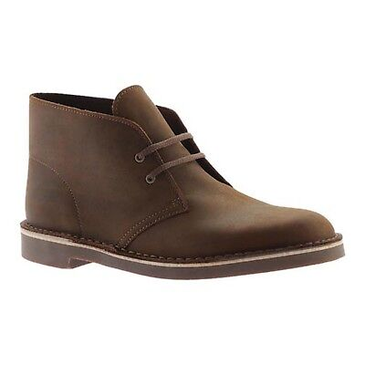 Clarks Men Boots Size 9.5 Brown Leather New In Box Made in India