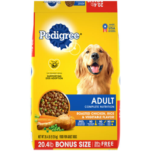 Pedigree Complete Nutrition Adult Dry Dog Food Chicken & Rice Flavor , 20.4 lbs