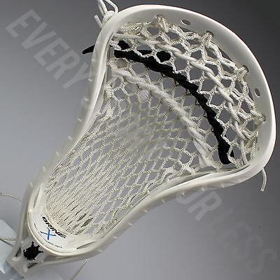 Brine Clutch Elite X Strung Lacrosse Head - White/Black LAX Head(NEW) Lists@$110