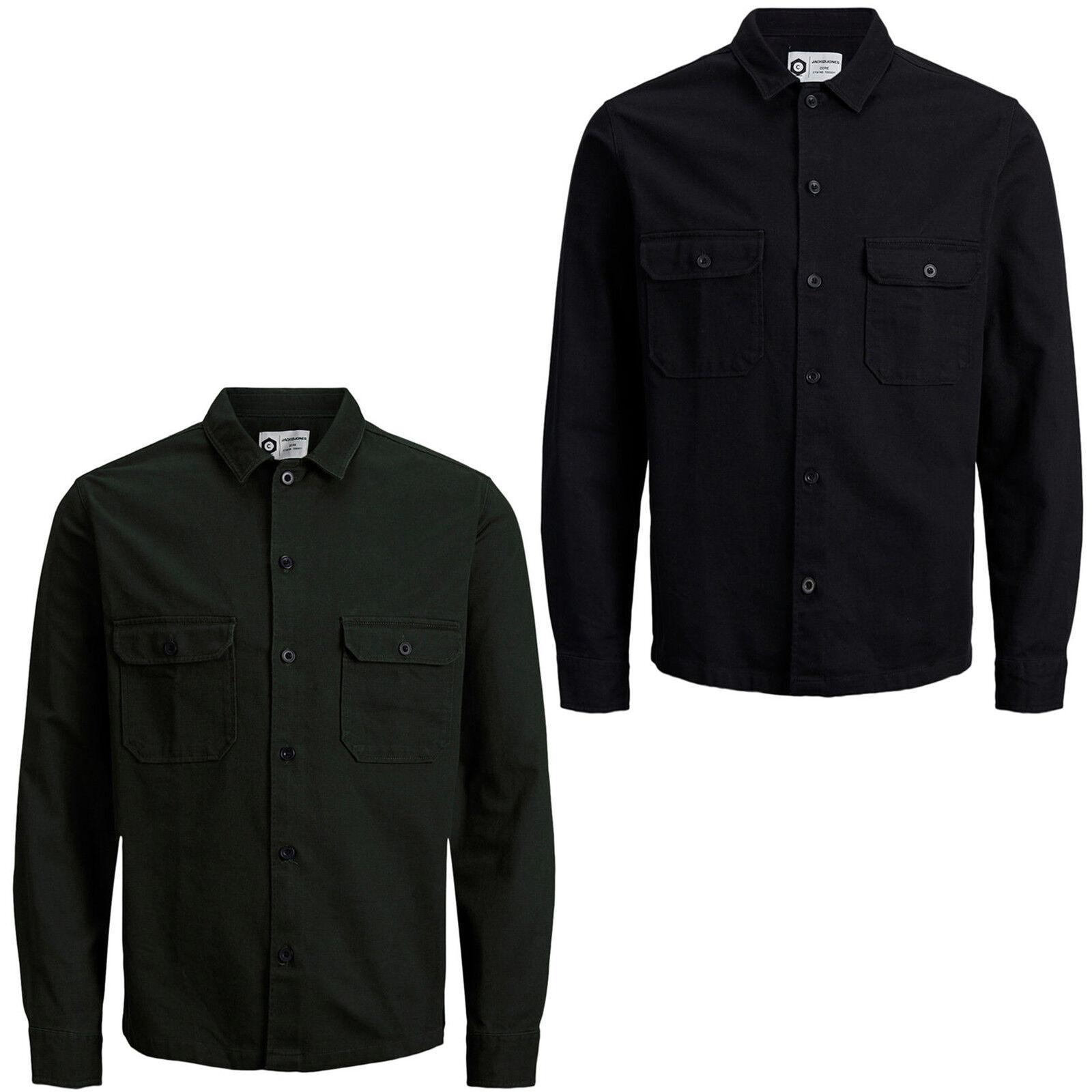 Jack /& Jones Core Shirt Jcoedison Mens Long Sleeve Cotton Worker Overshirt Top